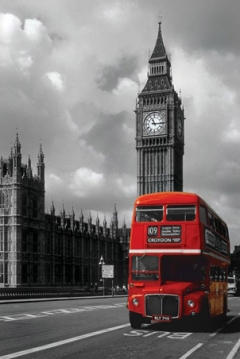 red-double-decker-bus-london-photography-poster